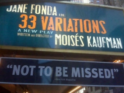 33 Variations Play on Broadway
