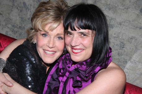 """Jane Fonda and Eve Ensler attend the after party for opening night of """"33 Variations"""" at Buddakan on March 9, 2009 in New York City.  (Photo by Bruce Glikas/FilmMagic)"""