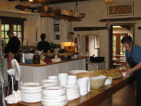 The Upaya kitchen. That's Sandra McDonald on the right. She's the lead cook and when there isn't a retreat she cooks for me and my guests. She's a saint!