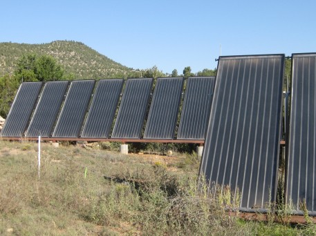 These are the solar panels that use the sun to heat my home