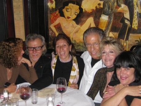 Daphna, Harvey, Daphna's mother, Richard, me and Eve Ensler