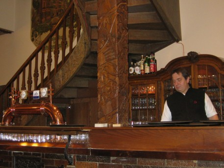 The old bar in the restaurant where Dr Ladenburger took me to lunch