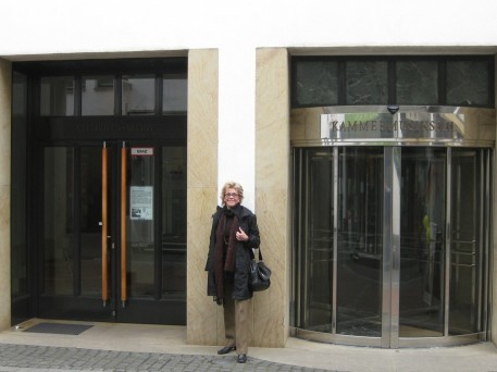 Outside the Beethoven museum and Archives