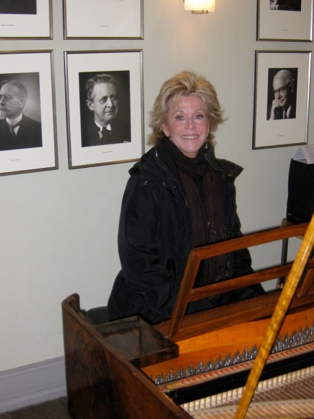 """This is the piano where """"33 Variations"""" was first performed. I wish I was actually playing but I flaked out as a kid in spite of years of piano lessons. Dr Ladenburger played the beginning of 33 Variations on it for me."""