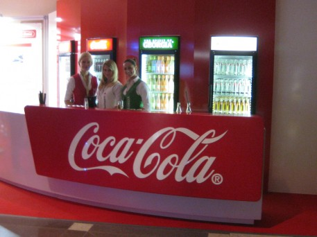 I guess Coke is displaying here because they are using biodegradable packaging and shipping materials