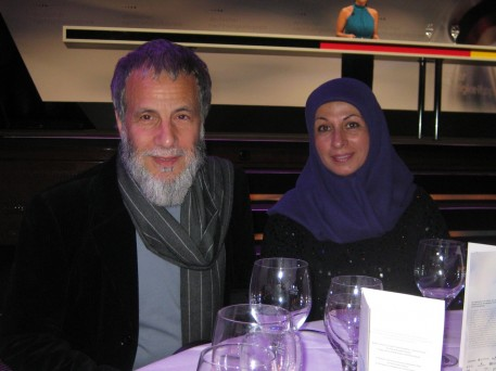 Yusuf Islam (used to be known as Cat Sevens) and his wife, Fauzia Mubarak Ali