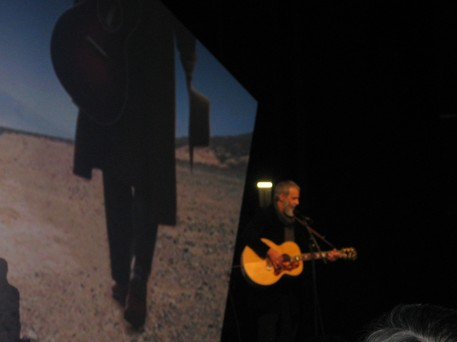 "Yusuf Islam performing a new song, ""Road Traveler,"" that will be part of the musical play he has developed"