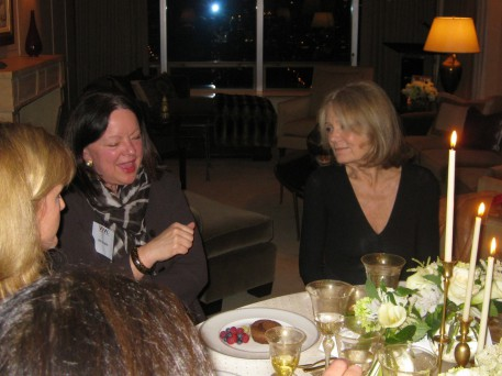 Nancy Zehner, Ann Kaplan and Gloria Steinem