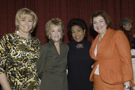 Emme Aronson (co-Emcee), Me, Roz Abrams (co-emcee), Karen Karpowich, NYWA president,
