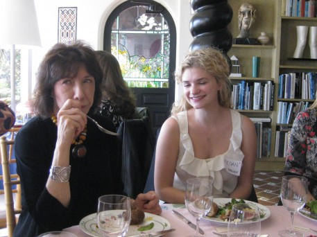 Lily Tomlin with Megan Ferguson, a wonderful young actor whose mother, Sharon, is on my G-CAPP board.