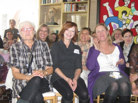 A wonderful group of smart, interested women came together at Jodie Evans and Max Palevsky's home to hear Lily and I dialogue and learn about the Women's Media Center