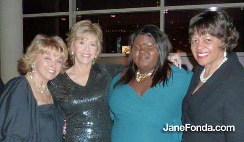 pat mitchell, me, gabby and michele ozumba