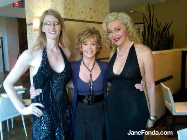 Left to right: Andrea James, me and Calpernia Addams