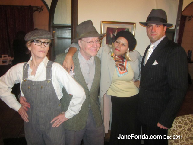Me as Tom Joad (well, okay, in eye makeup!), Danny Elfman, Simone and Troy as Bonnie and Clyde.