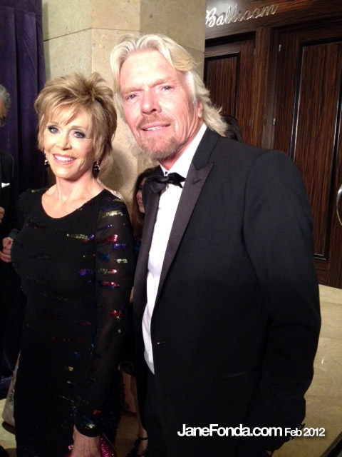 I'm giving Richard  Branson an award tonight at Clive Davis' pre Grammy party. The pall hangs heavy.