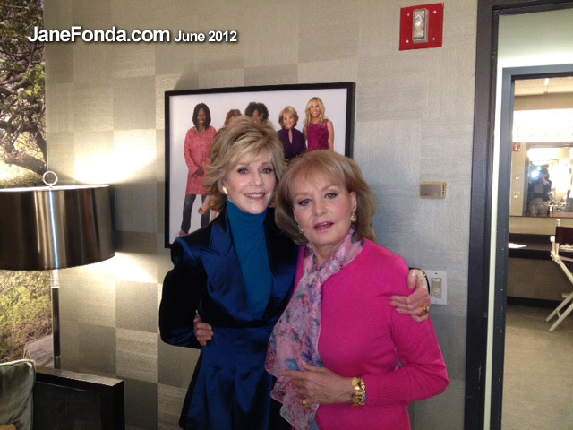 In the Green Room of the View with Barbara Walters