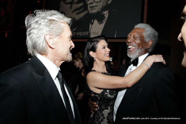 Michael Douglas, Catherine Zeta-Jones and Morgan Freeman
