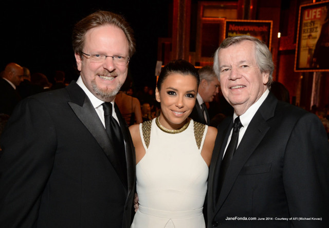 Eva Longoria with AFI President & CEO Bob Gazzale and Bob Daly, AFI Board Chair