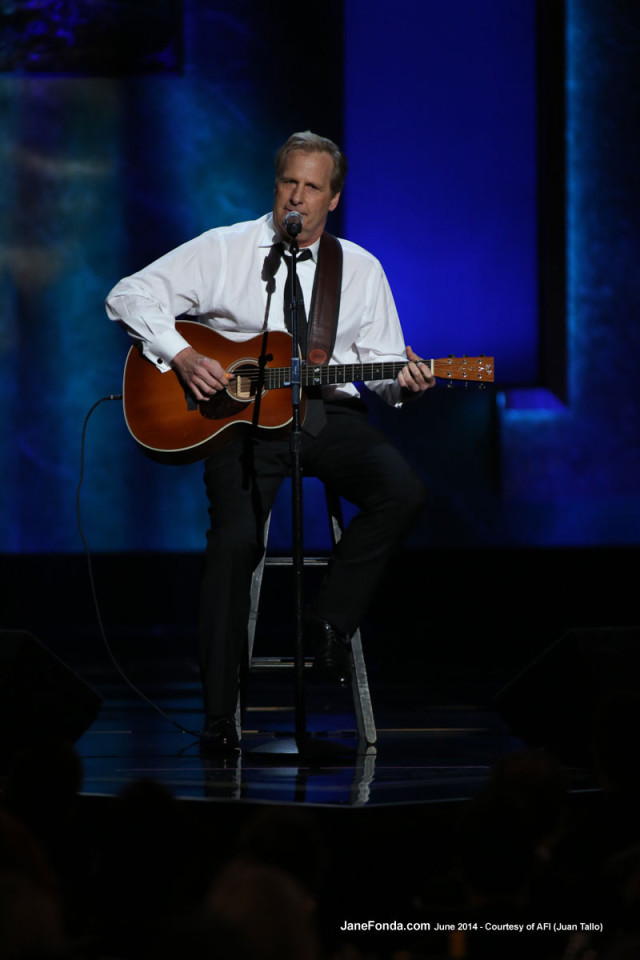 "Jeff Daniels. He sang a very funny song he wrote called ""Abs, Buns & Thighs"""