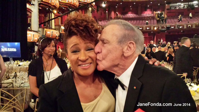 Wanda with Mel Brooks