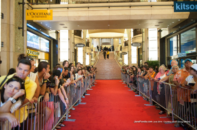 This is what it looked like walking into the Dolby Theatre hall