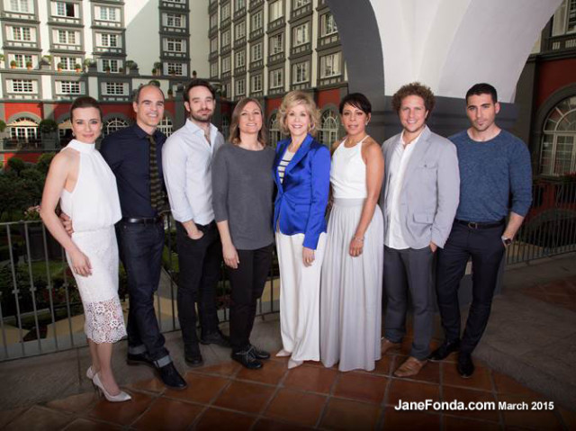 "L-R: Linda Cardellini (""Bloodline""), Michael Kelly (""House of Cards""), Charlie Cox (""Marvel's Daredevil""), Netflix's VP of Original Content Cindy Holland, Jane Fonda (""Grace and Frankie""), Selenis Leyva (""Orange is the New Black""), Gaz Alazraki (director, ""Club de Cuervos""), Miguel Angel Silvestre (""Sense8""). Photo Credit: Victor Chavez for Netflix."