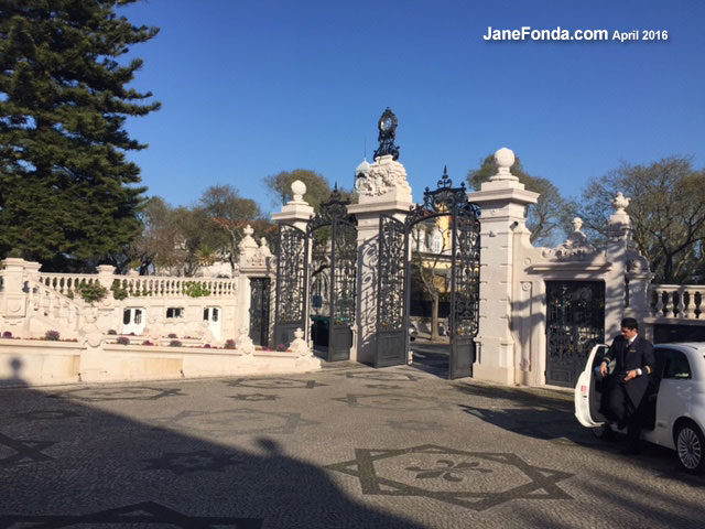 Pestana Palace Hotel entrance