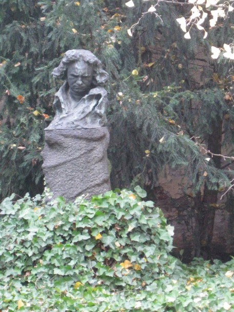 This statue of Beethoven was sculpted by Naoum Aronson who trained with Rodin