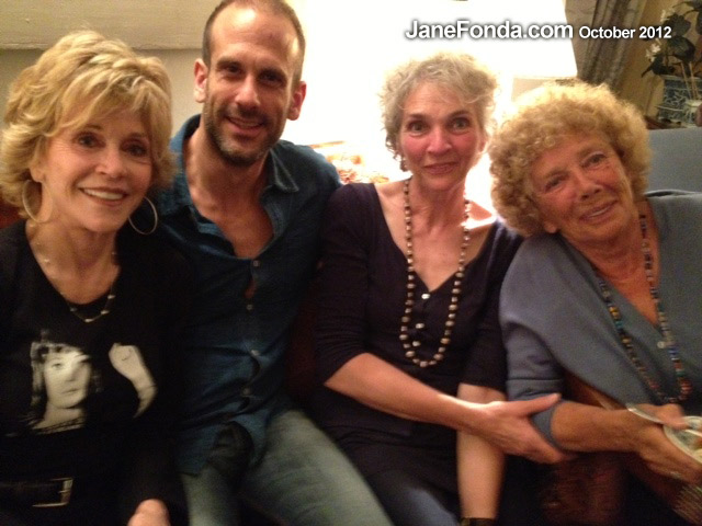 On my first night in Paris I had a family dinner. Here with Vania Vadim, my first husband Roger Vadim's son with Catherine Schneider, Nathalie, Vadim's niece and Helene, Vadim's sister.