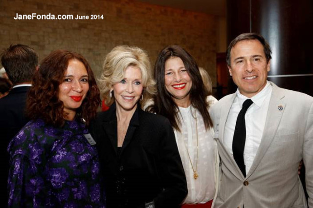 Maya Rudolph, me, Catherine Keener and David O. Russell. (photo taken by Jeffrey Dunn).