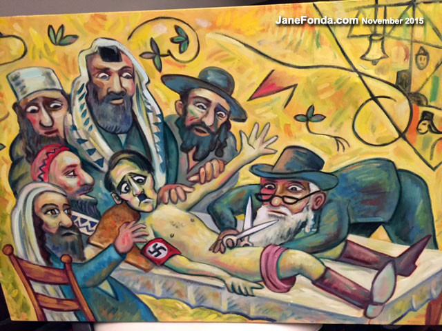 "Frankie's painted a picture, ""Hitler's Circumcision,"" which causes some drama in the family"