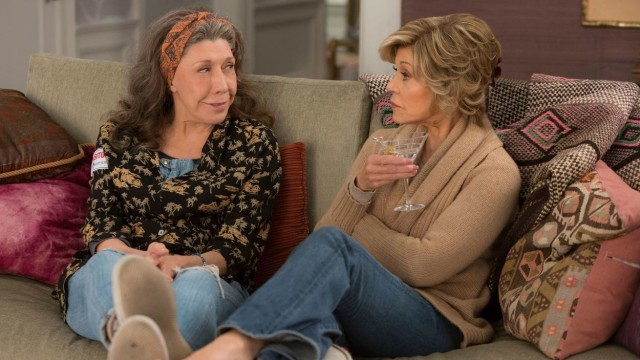 "Lily Tomlin and Jane Fonda as best friends ""Grace and Frankie."""