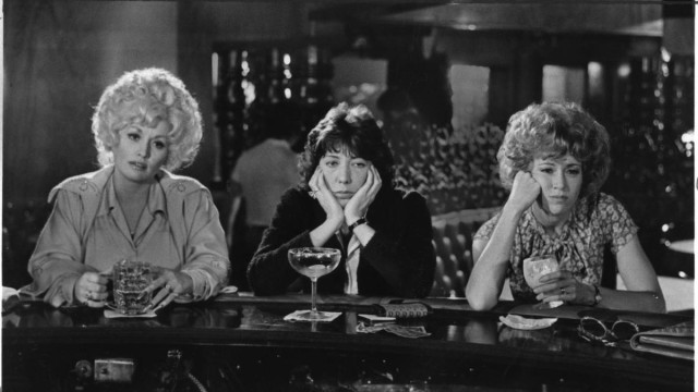 "Dolly Parton, Lily Tomlin and Jane Fonda in a scene from the 1980 movie ""Nine To Five."""