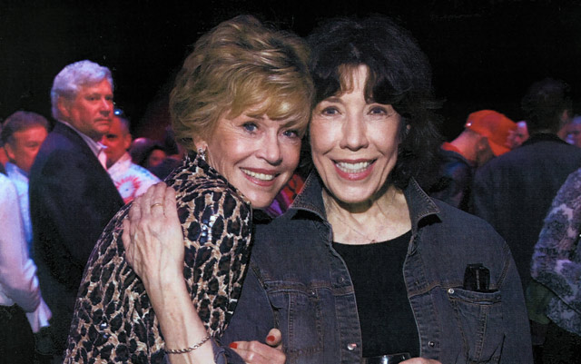 With Lily Tomlin at her Atlanta show.