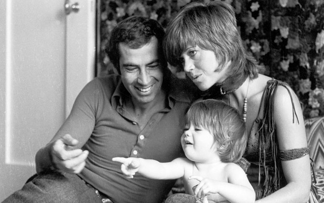 With Roger Vadim my first husband and my daughter Vanessa in 1970
