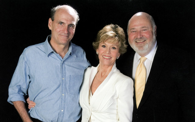 With James Taylor, Rob Reiner at a fundraising event in Santa Fe
