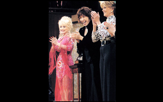 With Dolly Parton at the Mark Twain Tribute to Lily Tomlin