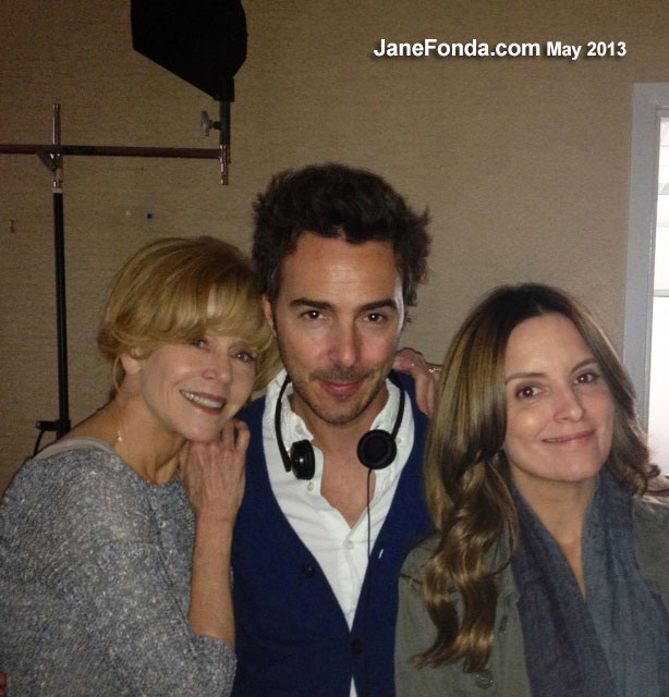 That's our director Shawn Levy in the middle with me and Tina Fey.