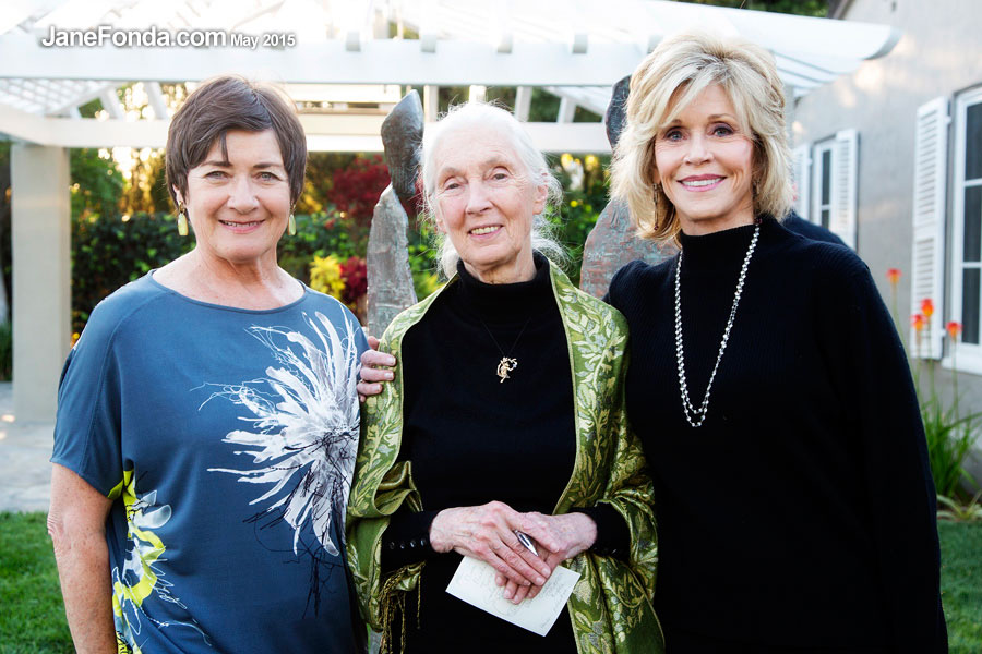With Jane Olsen and Dr Jane Goodall