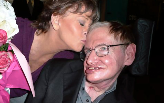 Stephen Hawking backstage at 33 Variations February 2011